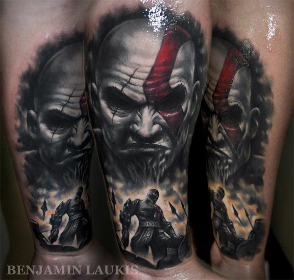 Realistyczny Tatuaż Fana God Of War Technogadżet