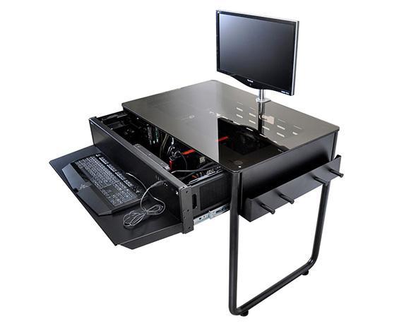 Lian li dk 01x biurko dla graczy w obudowie peceta for Bureau gamer ikea