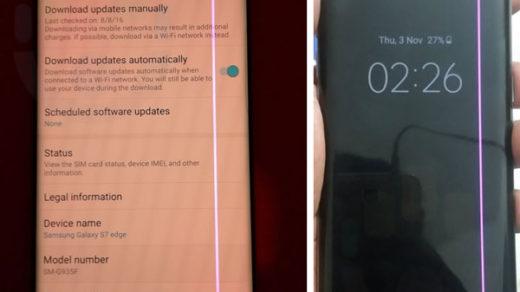 wadliwe wyświetlacze w Galaxy S7 edge