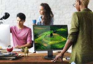 Biurowy monitor