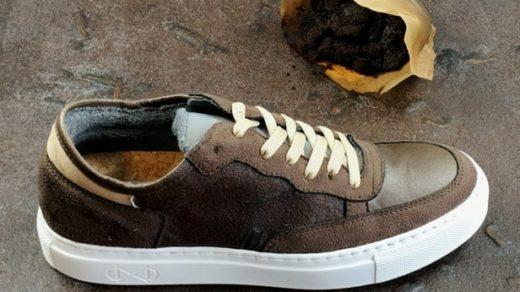 buty zrobione z kawy