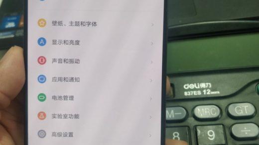Lenovo Z5_ekran