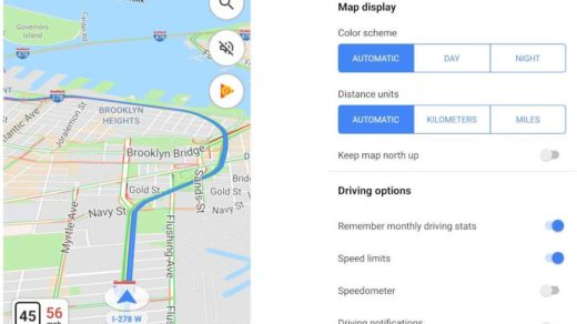 Prędkościomierz w Google Maps
